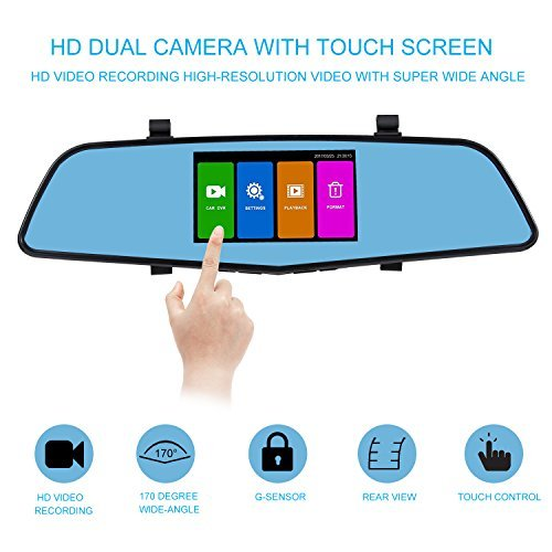 SENDOW Mirror Dash Camera 4.5-Inches IPS Touch Screen Review