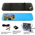 TENNBOO 4.3″ Full HD Dual Lens Rearview Mirror Car Dash Cam Review