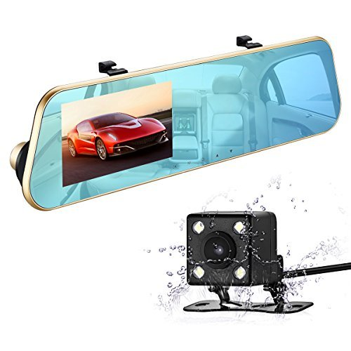 isYoung 720p HD Car Video Recorder Mirror Dash Cam Review
