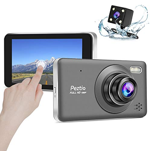 Peztio Dual Dash Cam 1080P Dashboard Camera Recorder